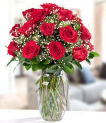 Eighteen Colombian Red Roses