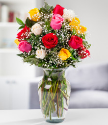 Two Dozen Medium Stemmed Assorted Roses