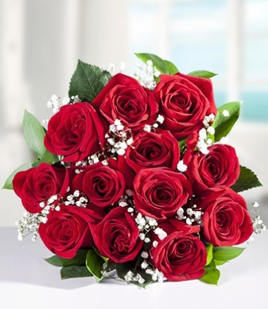 One Dozen Colombian Red Roses