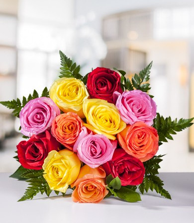 R-013: One Dozen Medium Stemmed Roses