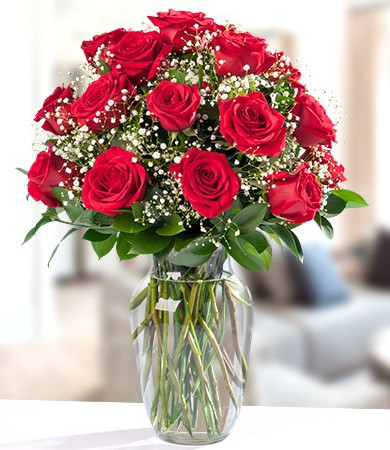 R-019: Eighteen Colombian Red Roses